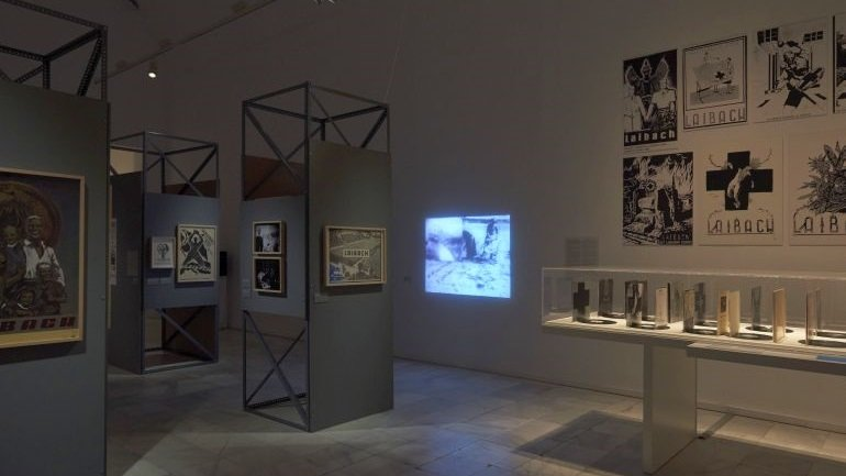 Exhitibion view NSK from Kapital to Capital. Neue Slowenische Kunst. An Event of the Final Decade of Yugoslavia