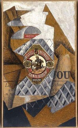 Juan Gris. La bouteille d'anis (La botella de anís), 1914. Pintura. Colección Museo Nacional Centro de Arte Reina Sofía, Madrid