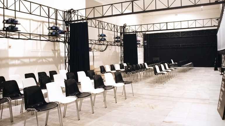 Vista de sala de la exposición Michelangelo Antonioni. Architetture della visione, 1987