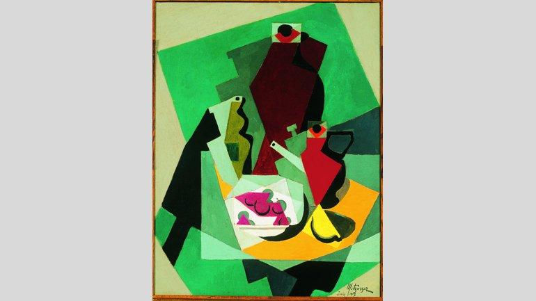 Jean Metzinger, Nature morte avec fruits et pitcher [Naturaleza muerta con fruta y jarra], 1917. © Jean Metzinger, VEGAP, Madrid, 2017. Imagen, Cortesía de Fundación Telefónica © Fernando Maquieira
