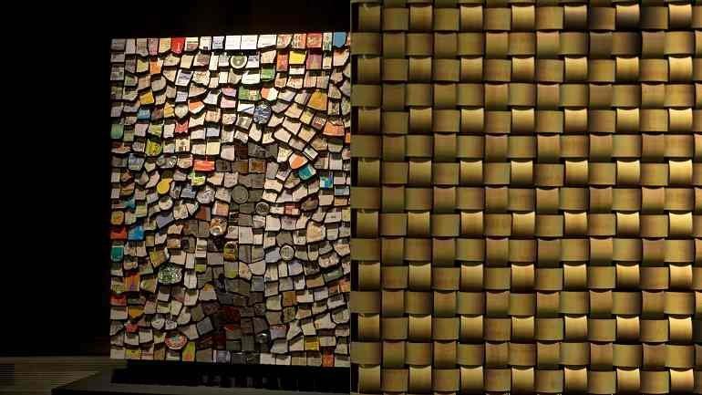 Vista de sala de la exposición. Máquinas y almas: arte digital y nuevos medios, 2008