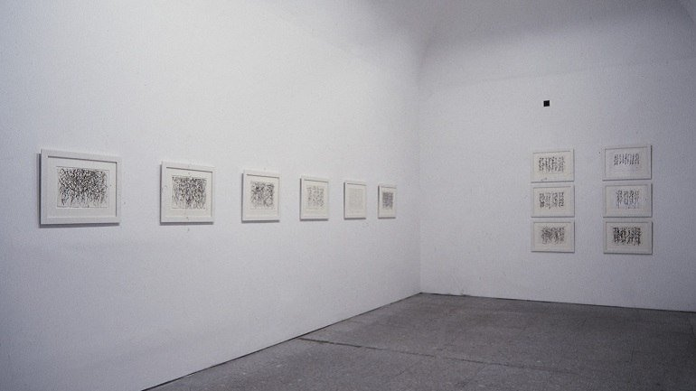 Exhibition view. Brice Marden. Cold Mountain, 1993