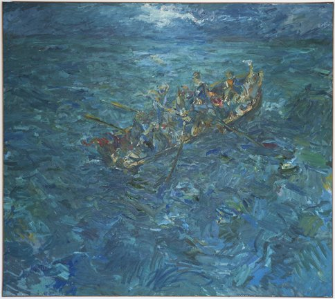 Miguel Ángel Campano, Shipwreck, 1983. Oil on canvas, 200 x 220 cm. Private Collection. © VEGAP, Madrid, 2013