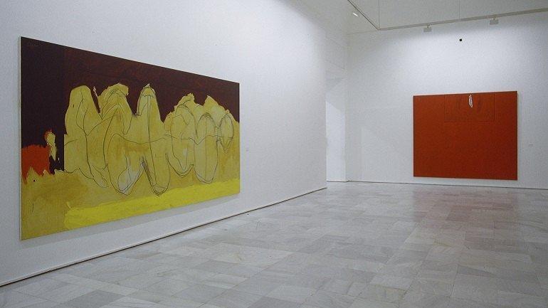 Vista de sala de la exposición. Robert Motherwell, 1997