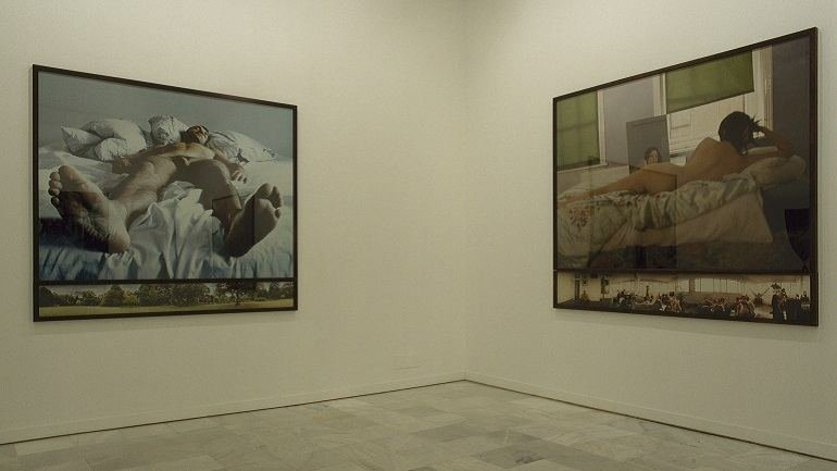 Exhibition view. Sam Taylor-Wood. Soliloquy / Noli me tangere, 2000
