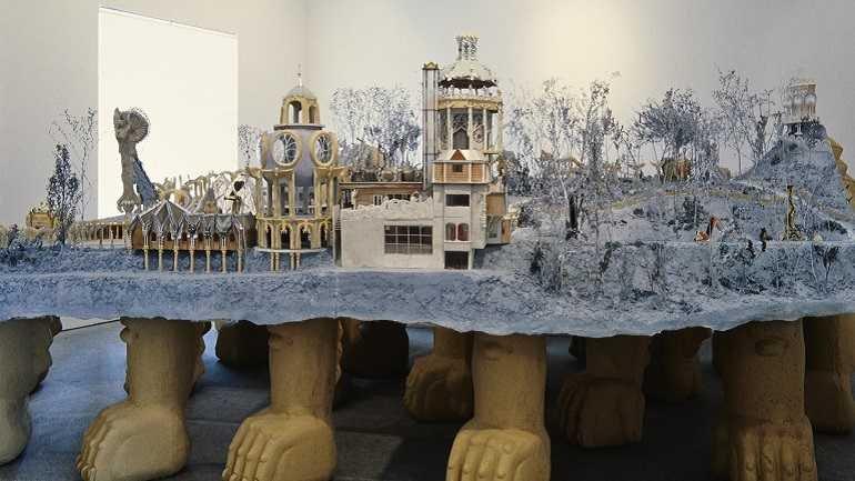 Vista de sala de la exposición. Suiza visionaria, 1992