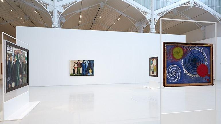 Vista de sala de la exposición Andrzej Wróblewski. Verso / reverso, 2015