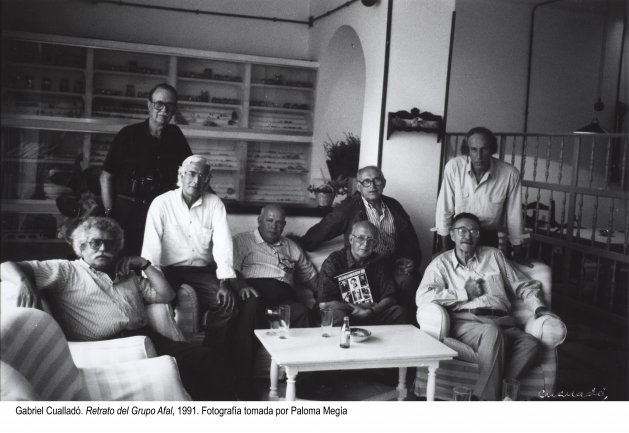 Gabriel Cualladó. Retrato del grupo Afal, 1991. Fotografía tomada por Paloma Megía