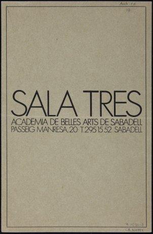 """""""Abad, Benito"""". Academia de Belles Arts, Sala Tres. 1976. Archivo Francesc Abad. Centro de Documentación"""