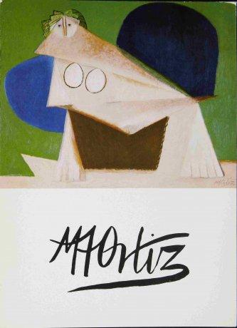 Manuel Ángeles Ortiz. Pájaro, reproducción en invitación para la exposición en la Galería Ignacio de Lassaleta de Barcelona (1979). Archivo Manuel Ángeles Ortiz. Centro de Documentación