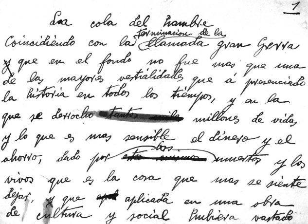 La cola del hambre (fragmento). Antes de 1920. Archivo Solana. Centro de Documentación