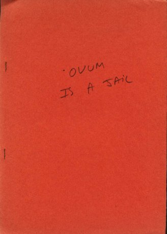 Tapa de OVUM nº 4, 2º época, Montevideo, 1974. Archivo Clemente Padín (UDELAR, Montevideo)