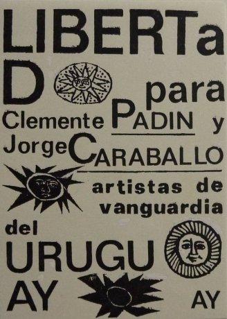 Postal enviada por Guillermo Deisler en 1978 en el marco de la campaña internacional por la libertad de Clemente Padín y Jorge Caraballo, detenidos por la dictadura uruguaya en 1977. Archivo Clemente Padín (UDELAR, Montevideo)