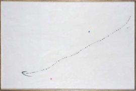 Joan Miró. Oiseau dans l'espace (Pájaro en el espacio), 1976. Acrílico sobre lienzo, 130 x 193,5 cm