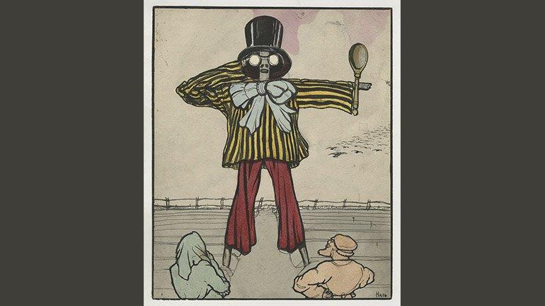 Ilin (Nal). Futurism in a village (Futurismo en un pueblo). 1914. Acuarela sobre papel. 30.5 x 25.2 cm. Museo Literario Estatal Ruso Vladímir Dahl